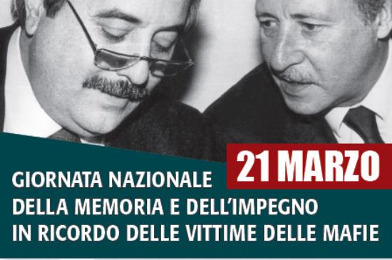 Legalità – 21 marzo 2021, XXVI Giornata della memoria e dell'impegno in ricordo delle vittime innocenti delle mafie
